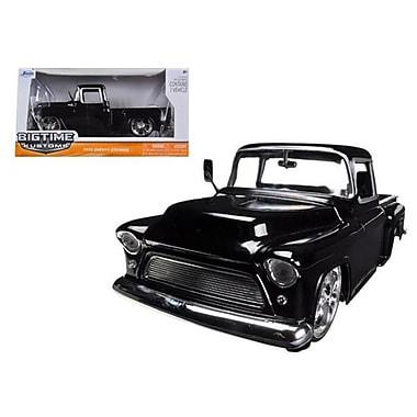 Jada 1955 Chevrolet Stepside Pickup Truck Black 1-24 Diecast Car Model (DTDP1358)