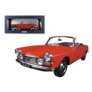 Norev 1967 Peugeot 404 Cabriolet Capanelle Red 1-18 Diecast Model Car (DTDP1311)
