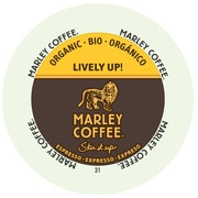 Marley Coffee Lively Up Espresso Dark Organic, RealCup portion pack for Keurig K-Cup Brewers, 96 Count (4690003)