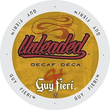 Guy Fieri Coffee Unleaded Decaf, Single Serve Cup Portion Pack for Keurig K-Cup Brewers, 192 Count (SNGF5338)