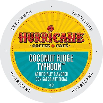 Hurricane Coffee And Tea Coconut Fudge Typhoon Single Serve Cups for K-Cup Brewers, 24 Count (SNHU5238) 24116870