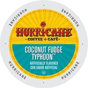 Hurricane Coffee And Tea Coconut Fudge Typhoon Single Serve Cups for K-Cup Brewers, 24 Count (SNHU5238)
