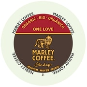 Marley Coffee One Love Medium Organic, RealCup portion pack for Keurig K-Cup Brewers, 96 Count (4690002)