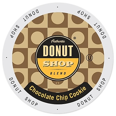 Authentic Donut Shop Chocolate Chip Cookie, Single Serve Cup Portion Pack for Keurig K-Cup Brewers, 96 Count (SNDO2200)