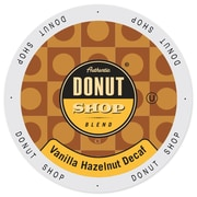 Authentic Donut Shop Vanilla Hazelnut Decaf, Single Serve Cup Portion Pack for Keurig K-Cup Brewers, 24 Count (SNDO2210)
