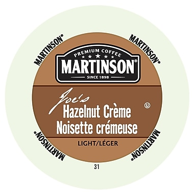 Martinson Coffee Hazelnut Creme, RealCup portion pack for Keurig K-Cup Brewers, 96 Count (4320107)