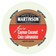 Martinson Coffee Cayman Coconut, RealCup portion pack for Keurig K-Cup Brewers, 24 Count (4320108)