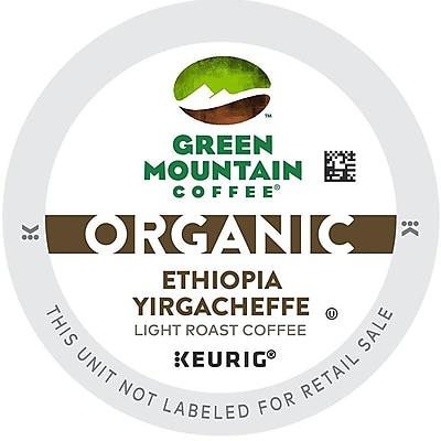 Green Mountain Coffee Organic Ethiopia Yirgacheffe, K-Cup Portion Pack For Keurig Brewers, 96 Count (56703)