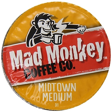 Mad Monkey Midtown Medium, RealCup portion pack for Keurig K-Cup Brewers, 96 Count (4900291)