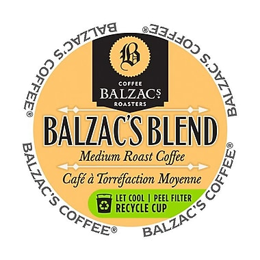 Balzac's Coffee Roasters Balzac's Blend, RealCup portion pack for Keurig K-Cup Brewers, 96 Count (3363002)