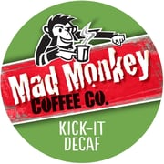 Mad Monkey Kick It Decaf, RealCup portion pack for Keurig K-Cup Brewers, 96 Count (4900293)