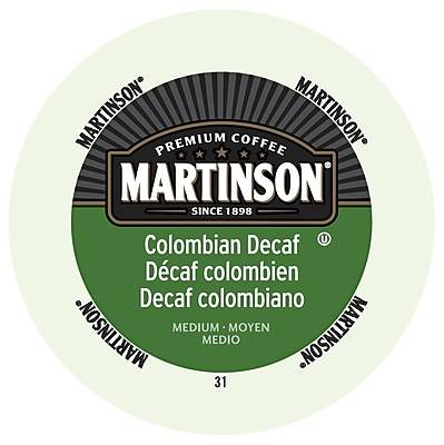 Martinson Coffee Colombian Decaf, RealCup portion pack for Keurig K-Cup Brewers, 48 Count (4320032) 24116426