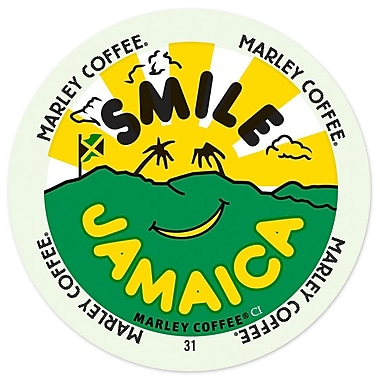 Marley Coffee Smile Jamaica Blend, RealCup portion pack for Keurig K-Cup Brewers, 24 Count (4689858)