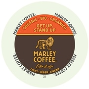 Marley Coffee Get Up Stand Up Light Organic, RealCup portion pack for Keurig K-Cup Brewers, 48 Count (4690001)