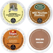 Flavored K-Cup Variety Pack 96 Count, Coffee Sampler w/ Green Mountain, Van Houtte, Folger's & Faro, 96 Count (GMT9676-CP4)