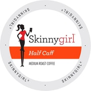 Skinnygirl Coffee Half Caff, Single Serve Cup Portion Pack for Keurig K-Cup Brewers, 96 Count (SNSG5336)