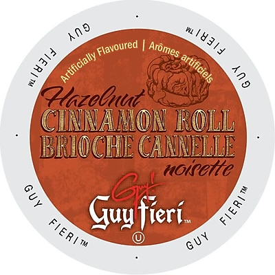 Guy Fieri Coffee Hazelnut Cinnamon Roll, Single Serve Cup Portion Pack for Keurig K-Cup Brewers, 24 Count (SNGF5252) 24116501