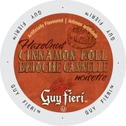 Guy Fieri Coffee Hazelnut Cinnamon Roll, Single Serve Cup Portion Pack for Keurig K-Cup Brewers, 24 Count (SNGF5252)