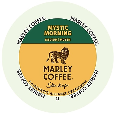 Marley Coffee Mystic Morning, RealCup portion pack for Keurig K-Cup Brewers, 24 Count (4689852)