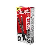 Sharpie S-Gel Retractable Gel Pen, Medium Point, Black Ink, Dozen (2096159)