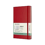 "2020-2021 Moleskine 5"" x 8.25"" Planner, Scarlet Red (606938)"