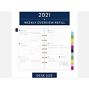 """2021 AT-A-GLANCE 5.5"""" x 8.5"""" Refill, Simplified by Emily Ley, White (EL100-4111-21)"""