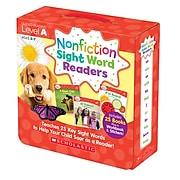 Scholastic Nonfiction Sight Word Readers Set, Level A for Grades PreK-1