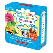 Scholastic Nonfiction Sight Word Readers Set, Level B for Grades PreK-1