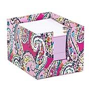 "Vera Bradley Standard Adhesive Notes, 3"" x 3.75"", Pink/Wildflower Paisley, 400 Sheets/Pad, 1 Pad/Pack (199580)"