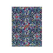 "Vera Bradley Kaleidoscope Lemon 1-Subject Notebook, 9.5"" x 11"", College Ruled, 80 Sheets, Blue (198383)"