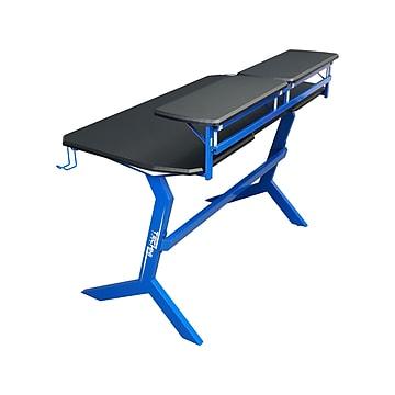 "Techni Sport Stryker 50"" Computer Desk, Blue/Black (RTA-TS201-BL)"