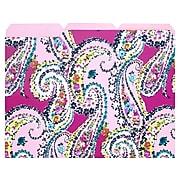 "Vera Bradley File Folder, 3-Tab, 12"" x 9"", Pink/Wildflower Paisley (198680)"