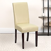 Flash Furniture Faux Leather Parsons Chair, Ivory (BT350IVORY050)