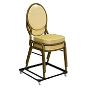 Flash Furniture HERCULES™ Steel Stack Chair and Church Chair Dolly, Black