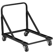 Flash Furniture Steel Band/Music Stack Chair Dolly, Black