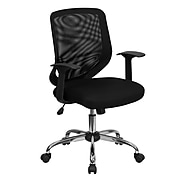 Flash Furniture Mesh Computer and Desk Chair, Gray and Black (LFW95MESHBK)