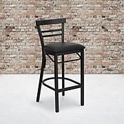 "Flash Furniture HERCULES Series 31""H Vinyl Bar Stool, Black (XU-DG6R9BLAD-BAR-BLKV-GG)"