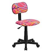 Flash Furniture Fabric Swirl Printed Pink Computer Chair, Multi-Colored