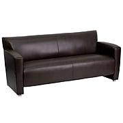 "Flash Furniture HERCULES Majesty  68.5""W Leather Sofa, Brown (2223BN)"