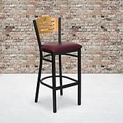 Flash Furniture HERCULES Natural Circle Back Metal Restaurant Bar Stools W/Vinyl Seat (XU6H3BSLTBARBRV)