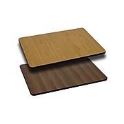 Flash Furniture 30'' Rectangular Table Top With Reversible Laminate Top, Natural/Walnut