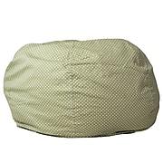 Flash Furniture Cotton Twill Oversized Dot Bean Bag Chair, Green