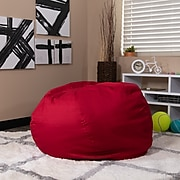 Flash Furniture Cotton Twill Bean Bag Chair, Red (DGBEANLGSLDRD)