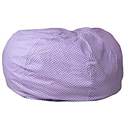 Flash Furniture Cotton Twill Oversized Dot Bean Bag Chair, Lavender