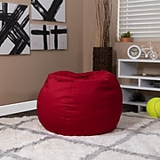 Flash Furniture Cotton Twill Bean Bag Chair, Red (DGBEANSMSLDRD)