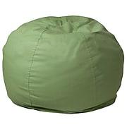 Flash Furniture Cotton Twill Bean Bag Chair, Green (DGBEANSMSLDGN)