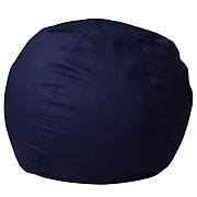 Flash Furniture Cotton Twill Bean Bag Chair, Navy Blue (DGBEANSMSLDBL)