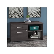 """Bush Business Furniture Office 500 23.2"""" Storage Cabinet with Two Shelves, Storm Gray (OFS145SG)"""