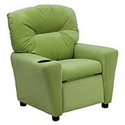 Flash Furniture Contemporary Microfiber Kids Recliner W/Cup Holder, Avocado