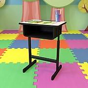 Flash Furniture YUYCY046 Plastic Student Desk, Grey